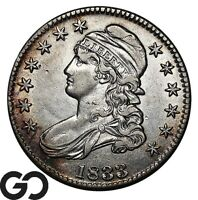 1833 CAPPED BUST HALF DOLLAR NICE EARLY DATE SILVER 50C
