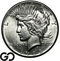 1928 PEACE DOLLAR AVIDLY PURSUED SERIES LOW MINTAGE KEY DATE