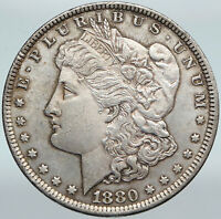 1880P UNITED STATES OF AMERICA EAGLE ANTIQUE SILVER MORGAN US DOLLAR COIN I88288