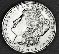 1890-S SILVER DOLLAR.  FULL CHEST FEATHERS.     HIGH GRADE INV.A