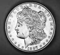 1897-S MORGAN SILVER DOLLAR.     HIGH GRADE   INV.A