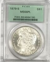 1879 S MORGAN DOLLAR - PCGS MINT STATE 66PL -  - BEAUTIFUL GEM COIN - OLD HOLDER