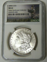 NGC MINT STATE 64 1898-O MORGAN SILVER DOLLAR GREAT NORTHWEST COLLECTION