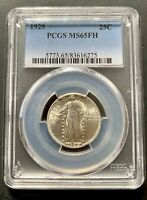 1929 PCGS MS 65 FH STANDING LIBERTY QUARTER  GORGEOUS COIN