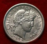 1905 O NEW ORLEANS MINT SILVER BARBER DIME