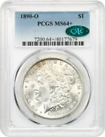 1890-O $1 PCGS/CAC MINT STATE 64 MORGAN SILVER DOLLAR