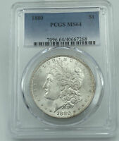 1880-P PCGS MINT STATE 64 MORGAN SILVER DOLLAR GREAT EYE APPEAL