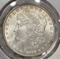 1878 7TF PCGS MINT STATE 64 REVERSE OF 1878 MORGAN SILVER DOLLAR GREAT DETAIL