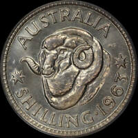 1963 MELBOURNE PROOF SHILLING PCGS PR64