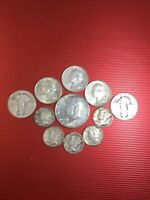 U.S.COIN LOT   ALL 90  SILVER   2.25 FACE VALUE