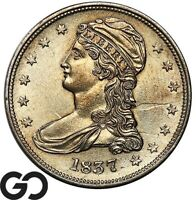 1837 CAPPED BUST HALF DOLLAR REEDED EDGE CHOICE UNCIRCULATED