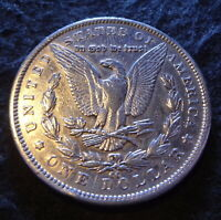 1892-CC MORGAN SILVER DOLLAR - SHINY EXTRA FINE  DETAILS FROM THE CARSON CITY MINT