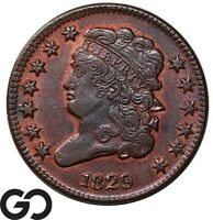 1829 HALF CENT CLASSIC HEAD EARLY DATE COLLECTOR COPPER