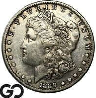 1889 CC MORGAN SILVER DOLLAR AVIDLY PURSUED CHOICE XF KEY DA