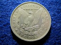 1883 MORGAN SILVER DOLLAR - BRIGHT EXTRA FINE - NEAR AU   READ