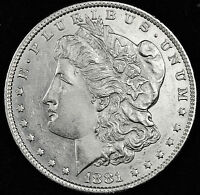 1881-O MORGAN SILVER DOLLAR.  FULL CHEST FEATHER'S.  B.U. INV. A