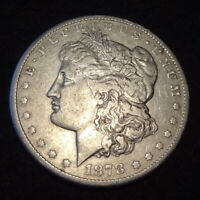 1878-CC MORGAN SILVER DOLLAR - SOLID VF DETAILS FIRST-YEAR CARSON CITY MINT