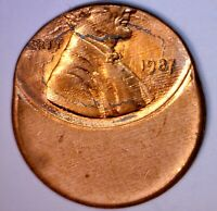 1987 ERROR WAY OFF CENTER LINCOLN CENT COIN NICE EARLY BU
