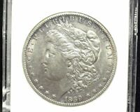 HS&C: 1889 CC MORGAN DOLLAR ANACS - AU55 CRACKED HOLDER ON SIDE, HOLOGRAM INTACT