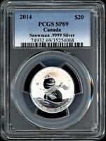 CANADA 2014 $20 PCGS SP69 SNOWMAN 20 FOR 20