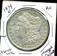 1879 O AU MORGAN DOLLAR 100 CENT  ABOUT UNCIRCULATED 90 SILVER US $1 COIN 4463