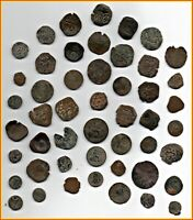 BIG LOT OF 49 ANCIENT COINS OF DIFFERENT EPOCAS MEDIEVAL  XV