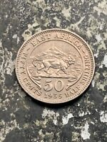 1955 EAST AFRICA 50 CENTS LOTZ9996