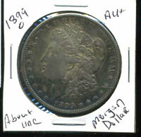 1899 O AU MORGAN DOLLAR 100 CENT  ABOUT UNCIRCULATED 90 SILVER US $1 COIN 4932