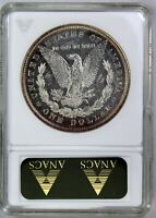 1878 P 8 TF MORGAN SILVER DOLLAR OLD ANACS  AU 58 AND PROOF LIKE GRADED VAM 14.8
