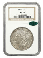 1895-O $1 NGC/CAC AU58 - KEY DATE FROM NEW ORLEANS - MORGAN SILVER DOLLAR