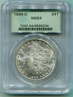 1899-O MORGAN SILVER DOLLAR S$1 PCGS MINT STATE 64 OLD GREEN HOLDER OGH PREMIUM QUALITY