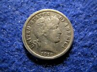 1916 S BARBER DIME - LUSTROUS EXTRA FINE - FULL LIBERTY