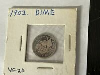 1902 BARBER SILVER DIME 10 CENTS