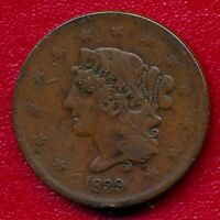 1839 BRAIDED HAIR LARGE COPPER CENT CHOICE FINE SHIPS FREE