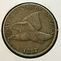 1857   EXTRA FINE -   FLYING EAGLE CENT    COIN