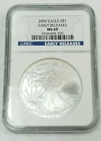 2009 AMERICAN SILVER EAGLE NGC MINT STATE 69 S$1 EARLY RELEASES FINE SILVER $1 K750