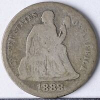 1888 SEATED LIBERTY DIME G