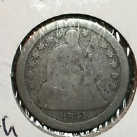 1841  WITH DRAPERY    SEATED LIBERTY DIME