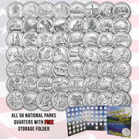 COMPLETE SET OF AMERICA THE BEAUTIFUL QUARTERS   56 UNCIRCULATED QTRS 2010 2021