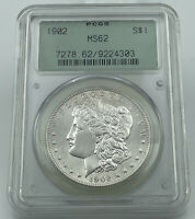 1902-P PCGS MINT STATE 62 MORGAN SILVER DOLLAR PQ COIN OLD GREEN HOLDER