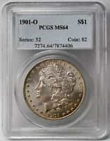 1901 O MINT STATE 64 MORGAN SILVER DOLLAR $1 COIN 90 US MINT SHIPS FREE PCGS