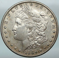 1886S UNITED STATES OF AMERICA EAGLE ANTIQUE SILVER MORGAN US DOLLAR COIN I88291
