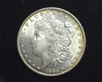 HS&C: 1884 MORGAN SILVER DOLLAR BU GEM - US COIN