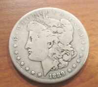 1889-CC CARSON CITY $1 MORGAN SILVER DOLLAR CIRCULATED T9
