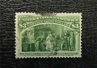 NYSTAMPS US STAMP  243 USED $1000   A30X1466