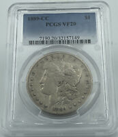 1889-CC PCGS VF20 MORGAN SILVER DOLLAR GREAT EYE APPEAL