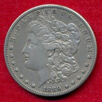1889-CC MORGAN SILVER DOLLAR CHOICE  FINE SHIPS FREE