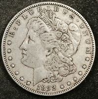1892-O MORGAN SILVER DOLLAR.  NATURAL UNCLEANED.  EXTRA FINE .  159465