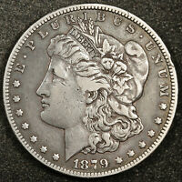 1879-S MORGAN SILVER DOLLAR.  REVERSE OF 1878.  VF.  159400