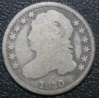 1830 10C CAPPED BUST SILVER DIME